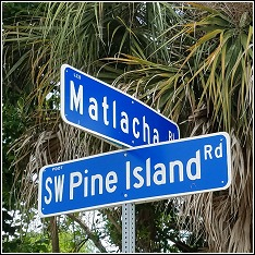 matlacha pine island road sign