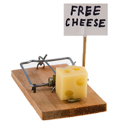 old fashioned mouse trap with cheese