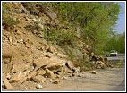 sample photo of the dangers created by hillside erosion along highways