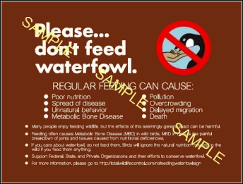 No Feeding Waterfowl Signs