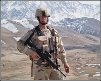 Ned in front of the Hindu Kush Mountains in Afghanistan